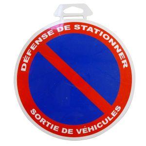 1 disque défense de stationner/sortie de véhicule Ø 18 cm en PVC autocollant