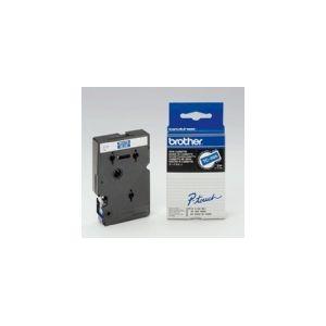 Brother TC595 P-Touch blanc sur bleue 9mm x 7,7m pour P-Touch