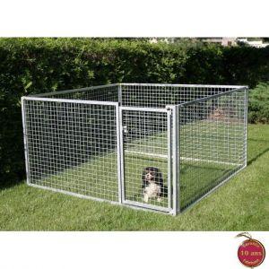 Enclos PRO pour chiots et petites races - Hauteur 110 cm - Grillage