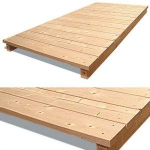 Plancher sapin pour chenil en kit