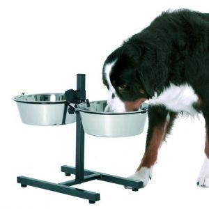 Support double gamelle pour chiens