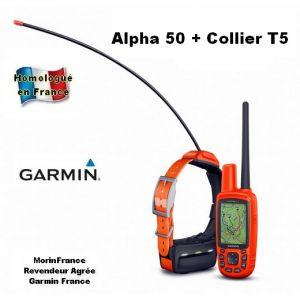Garmin Alpha 50 avec collier T5 GPS