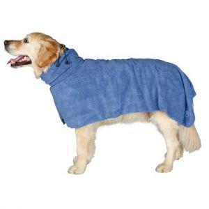 Peignoir de bain microfibres pour chien
