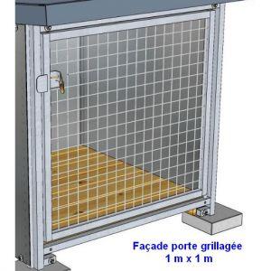 Panneau de chenil grillagé 5/5 Pro - hauteur 1 m