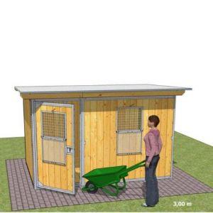 Chenil en kit RUSTICA GARDEN pour chien - Abri de jardin