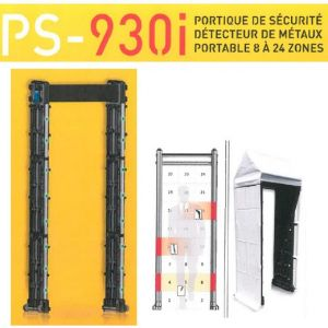 Portique de sécurité, détecteur de métaux 8 à 24 zones - PS-930I