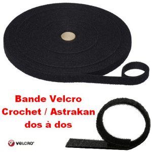 Bande Velcro crochet / astrakan dos à dos