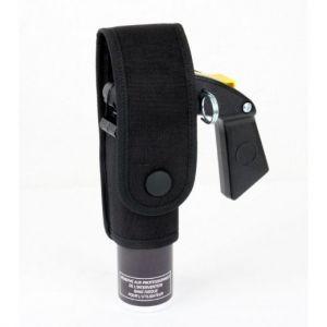 Porte-aérosol anti-agression 100 ml avec poignée noir
