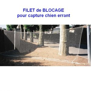 Filet de blocage pour capture animaux errants