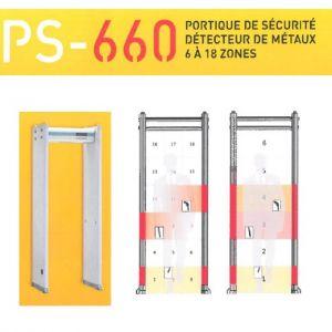 Portique de sécurité, détecteur de métaux 6 à 18 zones - PS-660