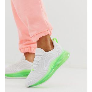 Nike - 720 - Baskets - Blanc et vert fluo