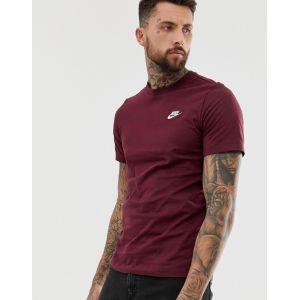 Nike - Club - T-shirt à logo - Bordeaux - Rouge