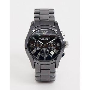 Emporio Armani - AR1400 - Montre chronographe en céramique - Noir - Noir