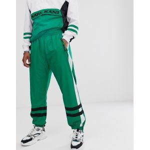 Karl Kani - Pantalon de survêtement style rétro avec bandes - Vert
