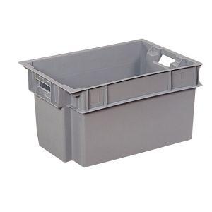 Bac plastique gerbable gris 600x400 50 litres