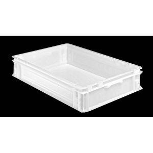 Caisse alimentaire plastique blanc 20 litres 600x400
