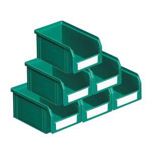 Carton de 50 bacs plastiques à bec 1 litre vert
