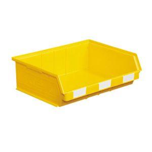 Bac plastique à bec 19 dm3 jaune