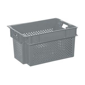 Bac plastique ajouré gris 600x400 50 litres