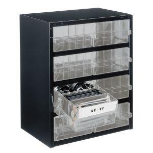 Bloc métallique à tiroirs transparents série 250, 8 tiroirs 2CL
