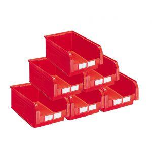 Carton 10 bacs à bec 28 litres rouge
