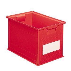 Bac plastique 40.5 litres rouge