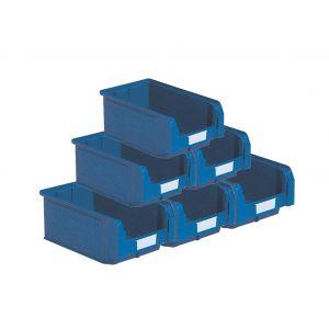 Bacs plastiques à bec 9.4 litres bleu (Lot de 21)