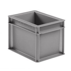 Caisse plastique Europe grise 2.7 litres