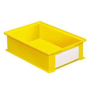 Bac gerbable plastique 16.2 litres jaune