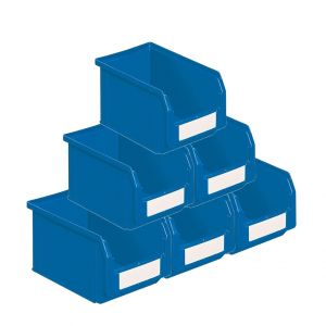 Bacs à bec plastique 3.8 litres bleu (Lot de 54)