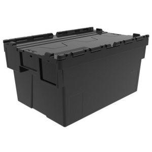 Bac navette 600x400 volume 52 dm3 avec couvercle Noir