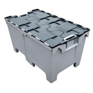 Container plastique 200 litres gerbable et emboîtable