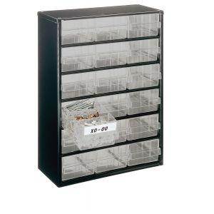 Bloc métallique à tiroirs transparents série 150, 18 tiroirs C