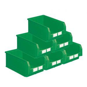 Carton de 10 bacs à bec 28 litres vert