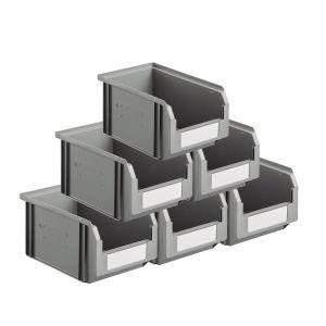 Carton 54 bacs à bec coloris gris volume 3.8 litres