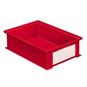 Bac gerbable plastique 16.2 litres rouge