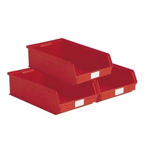 Carton 14 bacs à bec 20 litres rouge
