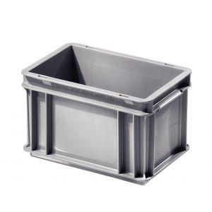 Caisse plastique 7 litres 30x20 cm coloris Gris
