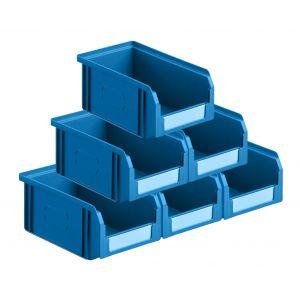 Carton 50 bacs à bec 1 litre coloris bleu