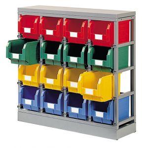 Rack pour stockage 16 bacs 12.5 litres