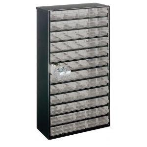 Bloc métallique à tiroirs transparents série 150, 60 tiroirs B