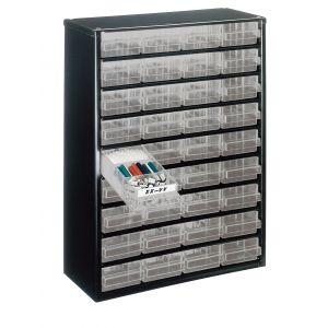Bloc métallique à tiroirs transparents série 150, 36 tiroirs A