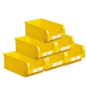 Carton de 10 bacs à bec 28 litres jaune