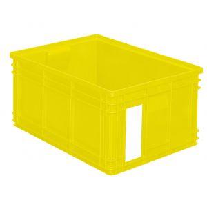 Bac plastique gerbable 85 litres jaune