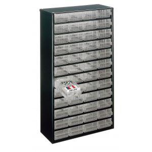Bloc métallique à tiroirs transparents série 150, 48 tiroirs A