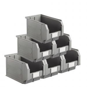 Carton 15 bacs à bec coloris gris volume 12.5 litres