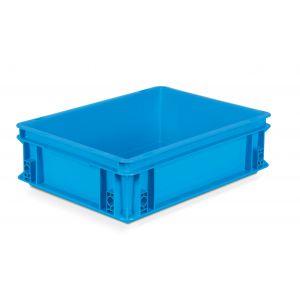 Caisse plastique Europe 400x300 coloris Bleu 10 litres