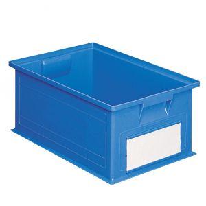 Bac plastique gerbable 27 litres bleu