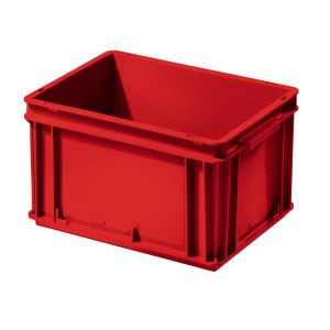 Bac plastique rouge Europe 400x300 volume 20 litres