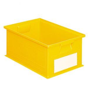 Bac plastique gerbable 27 litres jaune